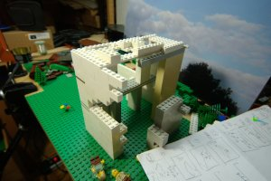 Chancellorship building in Lego